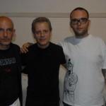 organuizzatori ALATRI IN BLUES Fabio e Jacopo Coretti con DAVE WECKL